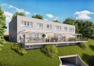 Visualisierung Mehrfamilienhaus in Belp
