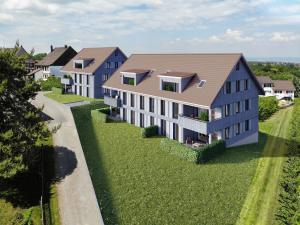 Visualisierung Neubau zwei MFH in Winden