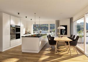 Immobilien 3D-Visualisierungen moderne Kueche Gebauede in Trimmis