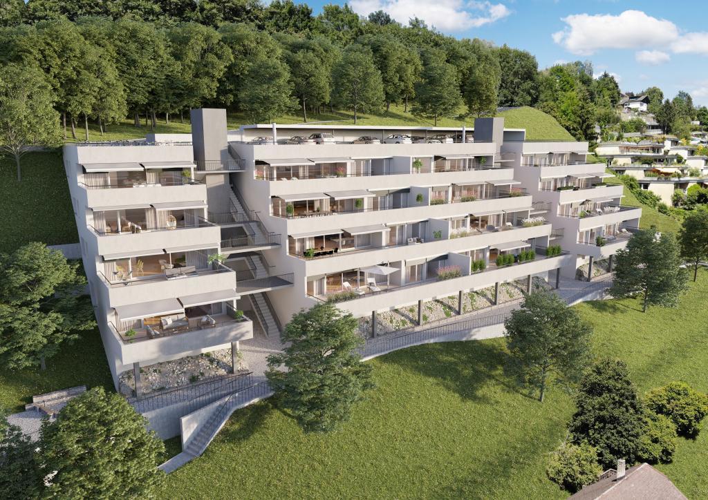 3D Architektur Visualisierungen Terrassensiedlung Boll