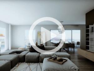 3d animation visualisierungen, innenraum wohnung