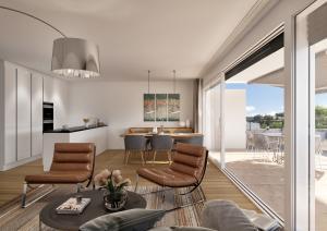 Ansicht Architektur-Visualisierungen Innenraum Küche Whg MFH Boll