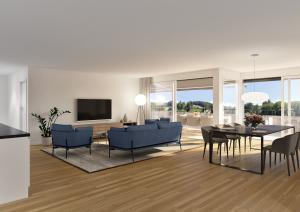 Innenansicht Architektur-Visualisierungen Moderne Wohnung MFH Boll
