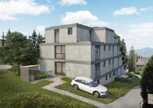 Neubau 3D-Visualisierung MFH Hoengg Zürich