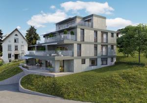 Neubau Visualisierung MFH Hoengg Zürich
