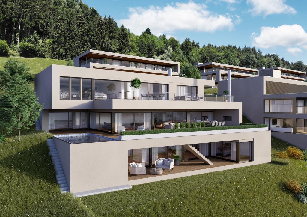 Architekturvisualisierung, 3D Visualisierung Terrassenhaus Udligenswil