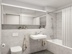 3D Visualisierungen Innenraum Badezimmer, Neubau MFH in Uster