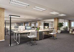Visualisierung Büroräume Sanierung Gebaeude in Schwerzenbach