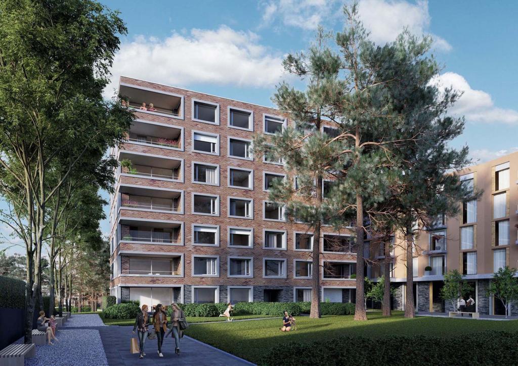 3D Visualisieerung MFH Innenhof