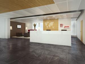 Visualisierung Reception Bürohaus Swiss