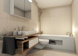 Visualisierung Badezimmer nach Neubau MFH