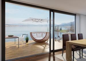 Visualisierung Terrassenansicht MFH bei Zürichsee