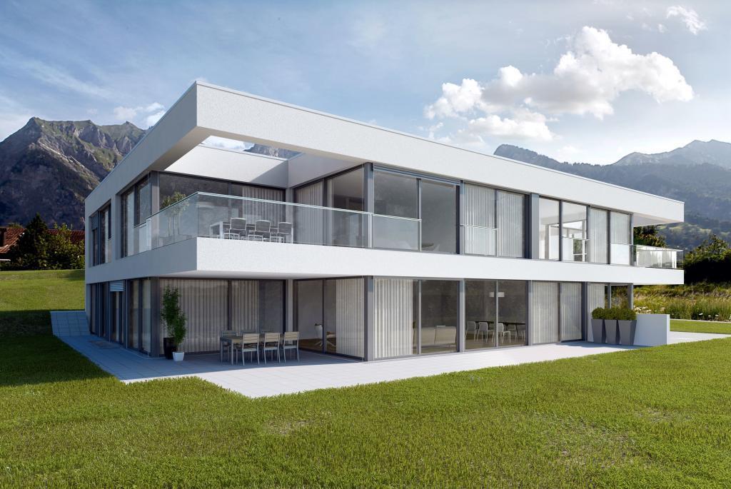 Architekturvisualisierung DEFH Modernes Haus