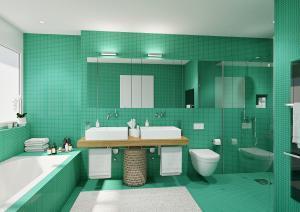 Visualisierung Badezimmer nach Umbau MFH in Zürich