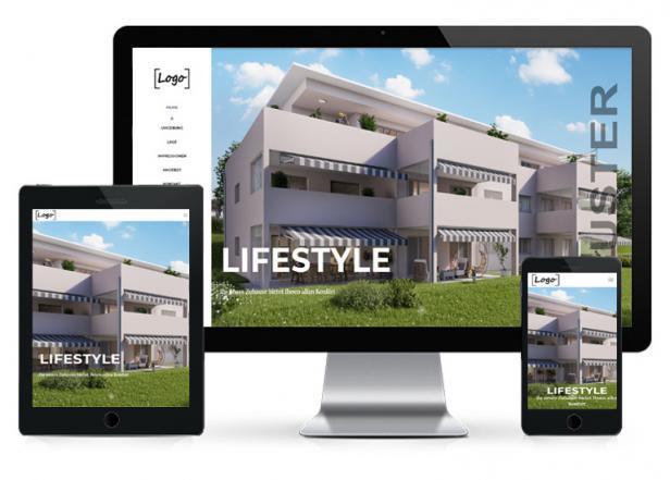 Immobilien Projektwebseite günstig