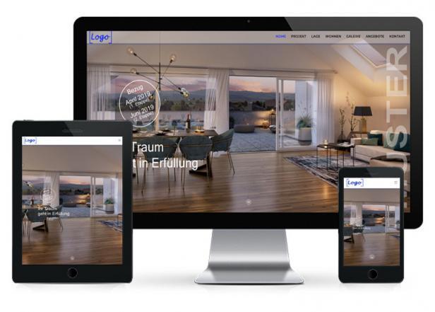 Projektwebseite für Makler