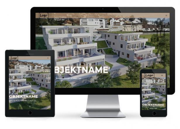 Immobilien Website One-Page Responsive