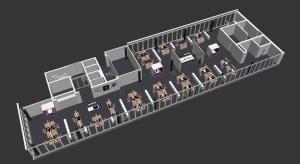 3D-modell Buerogeschoss Rendering