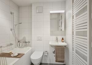 Innenraum Badezimmer 3D-Visualisierung