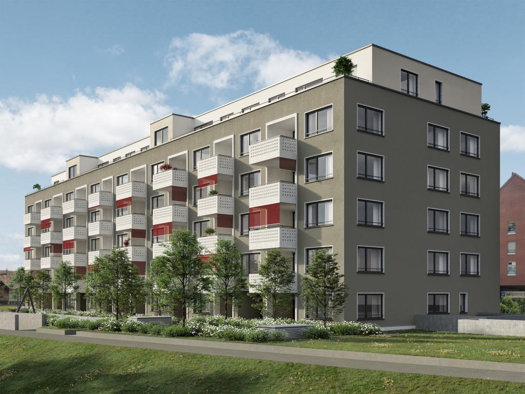 Mehrfamilienhaus in Dübendorf - STOMEO Visualisierungen
