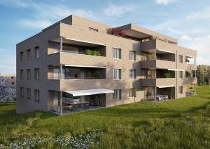 Mehrfamilienhaus Architekturvisualisierung