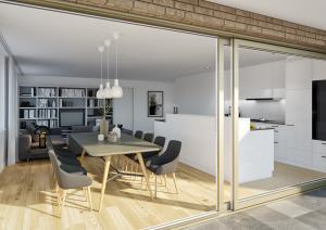 Terrasse Innenraum Kueche - Visualisierung