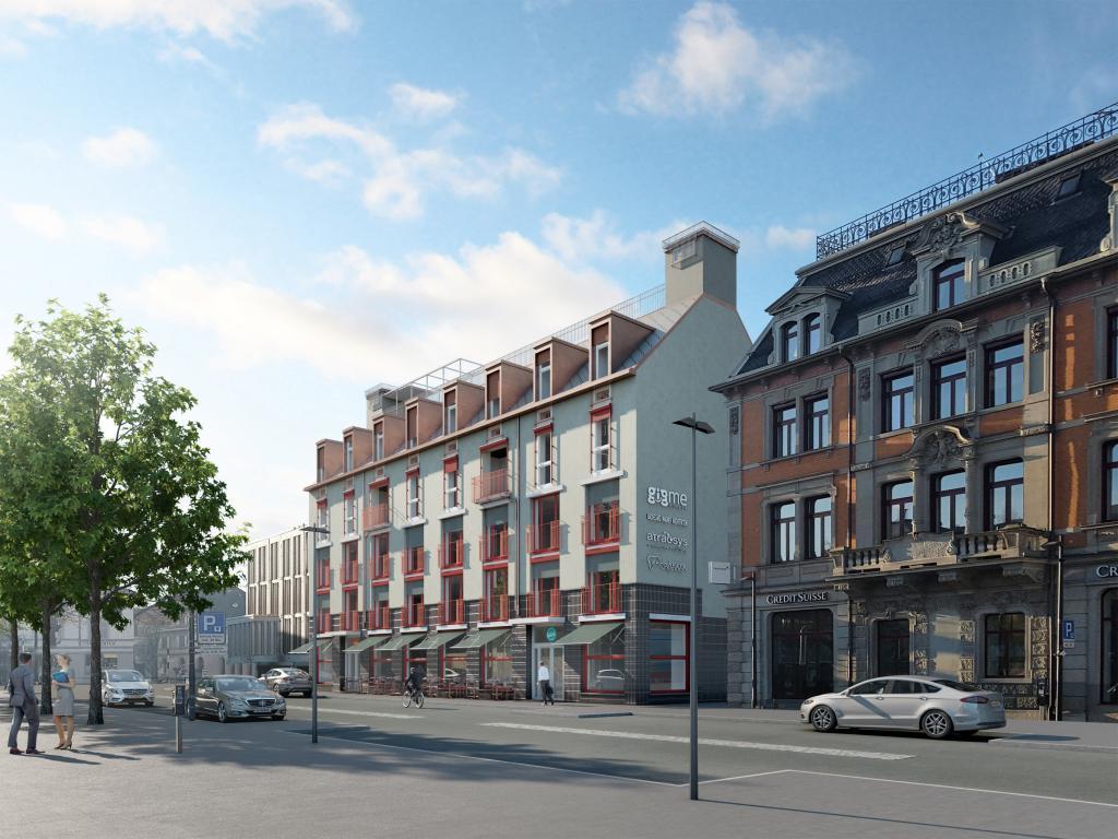 Wohn- und Geschäftshaus in Uster - STOMEO Visualisierungen
