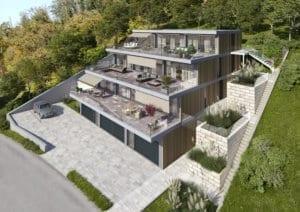 Neubau Terrassenhaus in Mettau - Architekturvisualisierung