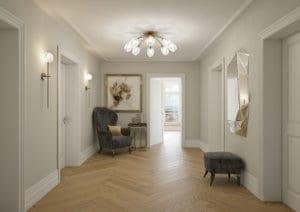 Korridor, Eingangsbereich - Visualisierung