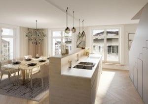 Küche nach Umbau Wohnung - Visualisierung