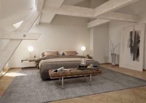 Schlafzimmer im Dachgeschoss - Visualisierung