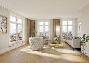 Wohnzimmer nach Umbau - Visualisierung