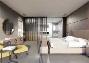 Bad und Schlafzimmer, Minotti Style - Visualisierung