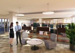 3D Architektur Render - Innenansicht Büro