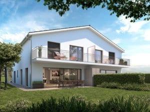 Visualisierung Doppeleinfamilienhaus DEFH