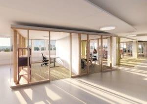 Architekturvisualisierung Bürogeschoss, Sitzungszimmer