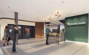 3D-Visualisierung Eingangsbereich Bank - Stäfa