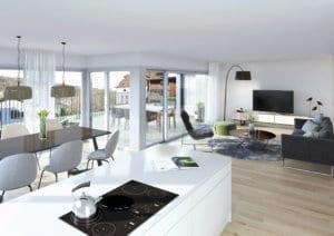 3D-Visualisierung Innenraum Wohnung in Malters