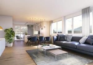 Visualisierung Innenraum Moderne Wohnung
