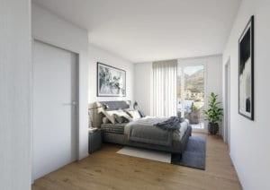 Visualisierung Schlafzimmer Wohnung - Flums
