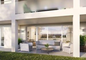 Visualisierung Sitzplatz Wohnung im EG - Flums