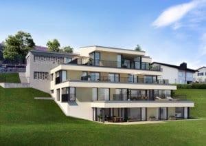 3D-Visualisierung Terrassenhaus in Malters
