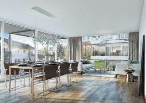 Visualisierung Wohnzimmer MFH - Erlinsbach