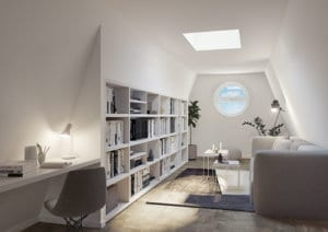 3D-Visualisierung Zimmer im Dachgeschoss
