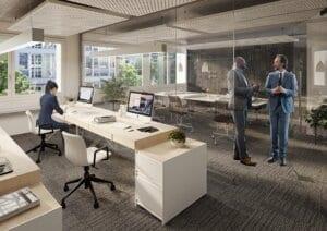 3D-Visualisierung Büroraum1 Zürich