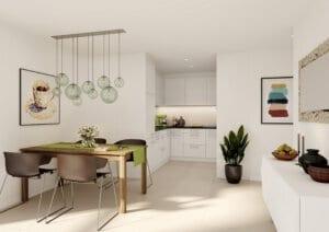 3D-Visualisierung Küche Limmatstrasse ZH