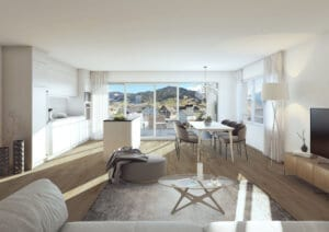 3D-Visualisierung Küche MFH Euthal