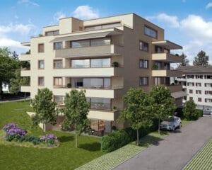 3D-Visualisierung Neubau MFH Kloten